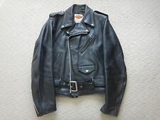 Schott Leather Double Motorcycle Jacket Harley Davidson 38