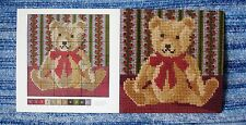 GENUINE ELIZABETH BRADLEY NEEDLEWORK TEDDY BEAR MINI CHART 6 INCH SQUARE