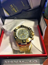 NEW Invicta Reserve Grand Octane Arsenal Swiss Movt Chronograph Gold Tone  0341