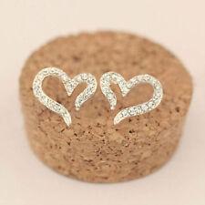 1Pair Fashion Women Lady Elegant Crystal Rhinestone Silver Ear Stud Earrings