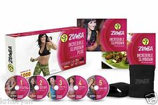 ZUMBA FITNESS INCREDIBLE SLIMDOWN DVD SYSTEM TOTAL BODY WORKOUT EXCERCISE 2 DAY