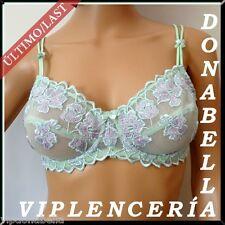 FEMINISSIME BRA Sujetador Flores Verdes **Mod.04 Talla/Size: 85D/EUR70D + REGALO