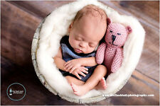 Baby Crocheted Newborn Lovey Bear Photography Prop/Stuffed Animal/Plush Toy