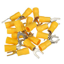 20pcs Insulated Fork Spade Wire Connector Electrical Crimp Terminal 12-10AWG M5