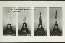 A series of images showing the construction of the Eiffel Tower, 1887-1889.