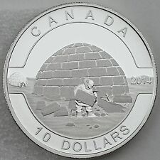 Canada 2014 $10 Igloo 1/2 oz. Pure Silver Coin First Coin in New O Canada Series
