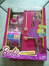 Mattel Barbie Doll House Furniture Play Set Glam Refrigerator w/ Accessories MIB