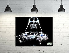 "Star Wars Darth Vader framed Canvas wall art 14""x11"" inches and a 3/4"" frame"