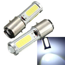 2x BA20D COB LED Blanco Motor Bike/Moped/ATV Headlight Bombilla Luz DRL H6 E301
