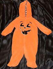 Baby Pumpkin Halloween Costume Fits Kids Size 6-9 Months Child Boys Girls Onesie