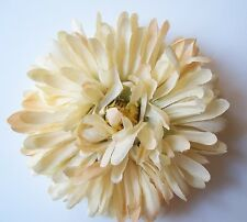 Magnetic Beige Flower Brooch Clip Clasp Pin Scarves Shawls