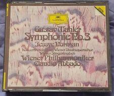 MAHLER - Symphony #3 NORMAN ABBADO W. German DG PDO 2CD FULL SILVER NO IFPI