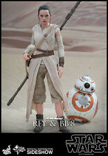 "Sideshow Hot Toys 1/6 Scale 12"" Star Wars Force Awakens Rey & BB8 Action Figure"