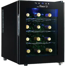 Wine Cooler Mini Fridge 12 Bottle Beverage Center Refrigerator Glass Chiller