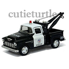 Kinsmart 1955 Chevy Stepside 3100 Pick Up Tow Truck 1:32 Diecast Toy Car Police