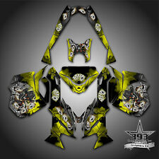 SKI-DOO REV XM SUMMIT SNOWMOBILE SLED GRAPHICS DECAL KIT WRAP OUTLAW YELLOW