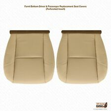 2011 2012 Cadillac Escalade Driver & Passenger Bottom Leather Seat Cover Tan