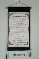 Tibetan Buddhist Thangka Wall Hanging TRUE MEANING H.H Dalai Lama Quote Nepal