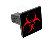 "Biohazard Warning Symbol - 1 1/4 inch (1.25"") Trailer Hitch Cover Plug"