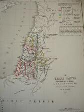 Carte de la Terre Sainte partagée en 12 tribus  An du monde 2591, AV J.C 1413
