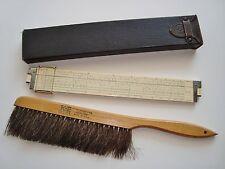 1947 KEUFFEL & ESSER K & E LOG LOG DUPLEX DECITRIG SLIDE RULE + Horse-Hair Brush