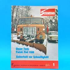 Der Deutsche Straßenverkehr 1/1974 Polski Fiat 125 Jawa 350 Töpelwinkel Prag G