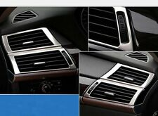 For BMW X6 E71 Dashboard Air Vent Outlet Frame Covers Trim Stainless 2008-2014