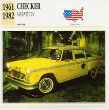 1961-1982 CHECKER MARATHON Classic Car Photograph / Information Maxi Card