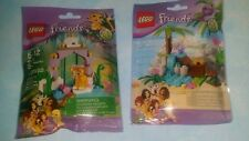 New LEGO Set of 2 Friends Series 4 - 41041 Turtle 41042 Tiger