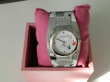 PLAYBOY Watch Silver strap Aces cards all over  - 100% Authentic