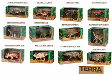 *FULL SET OF 12* Battat Terra dinosaur models - brand new in boxes