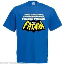 Men's blue T-shirt dinner dinner fatman humour funny t shirt Size XXL made2order