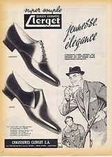 PUBLICITE ADVERTISING 015 1958 CLERGET chaussures pour homme