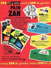 PUBLICITE ADVERTISING 025  1959  Le PETIT PAIN ZAN sachet de poche
