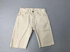 Mens Levi Reworked Needle Cord Denim Shorts - W30 - Beige Wash - Great Condition