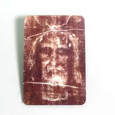 Lenticular 3D Holographic Stereoscopic Jesus Shroud of Turin Holy Card Easter