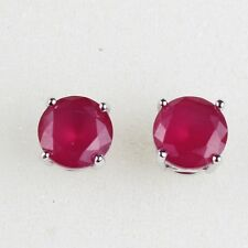Wedding 18k white gold filled ruby wedding stud earring brand new