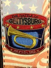 """THE BATTLE OF GETTYSBURG DRUM WITH BUGLE JULY 1-3 1863 PATCH 2 1/2"""" NEW"""