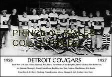 1927 DETROIT COUGARS TEAM PHOTO 8X10