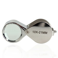 10x 21mm Glass Magnifying Magnifier Jeweler Eye Jewelry Loupe Loop Jewels Tool