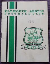 Plymouth Argyle V Rotherham United, 27 FEBBRAIO 1965