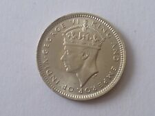 coin -1943 MALAYA STRAIT SETTLEMENT KING GEORGE VI 10 CENTS SILVER COIN (#58-1)