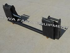 Kubota Front End Loader with Pin On Bucket to Skid Steer Quick Attach Adapter