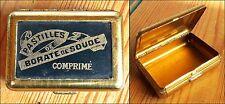 mini boite métal Médicale Vide 1920-40 Pastilles de Borate de Soude Comprimé