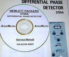HP 3705A Differential Phase Detector,  Service Manual (Good Schematics)