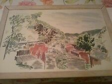 Nice Prentiss Taylor watercolor. Scene of Point of Rocks MD. Well listed artist