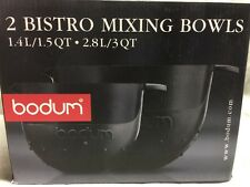 Bodum Bistro Set of 2 Mixing Bowls Black Brand New in Box