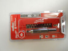 New Milwaukee 12 pc Magnetic Drive Guide Set Shockwave Impact Duty  48-32-4507