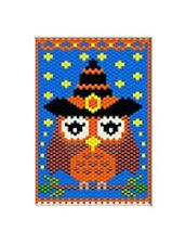 CUTE LITTLE WITCH OWL~PONY BEAD BANNER PATTERN ONLY