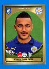 FIFA 365 2016-17 Panini 2017 Figurina-Sticker n. 126 - SIMPSON -LEICESTER-New